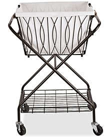 Gourmet Basics By Verona Laundry Basket With Bag & Wheels