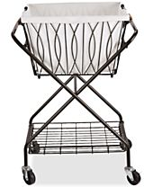 Gourmet Basics By Mikasa Verona Laundry Basket With Bag & Wheels