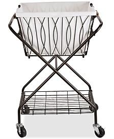 Gourmet Basics By Mikasa Verona Laundry Basket With Bag & Wheels