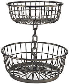 Gourmet Basics By Mikasa Chain 2-Tier Round Basket