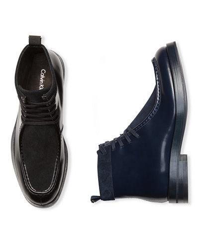 Calvin Klein Men's Rafi Box Leather Boots