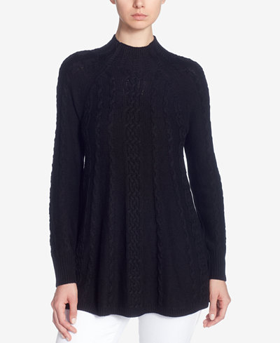 Catherine Catherine Malandrino Cable-Knit Swing Sweater