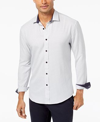 Vince Camuto Men's Casual Button-Down Shirt - Casual Button-Down ...