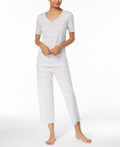 Charter Club Banded Cotton Pajama Set, Created for Macy's