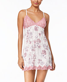 Thalia Sodi Floral-Print Lace Chemise, Created for Macy's