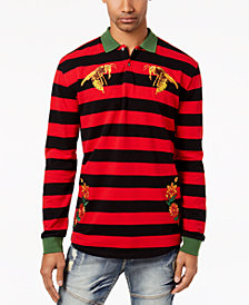 Reason Men's Bee Embroidered Rugby Stripe Polo