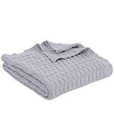 Berkshire Textured Diamond-Knit Throw