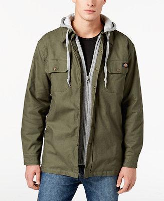 Dickies Men S Quilted Shirt Jacket Coats Amp Jackets Men
