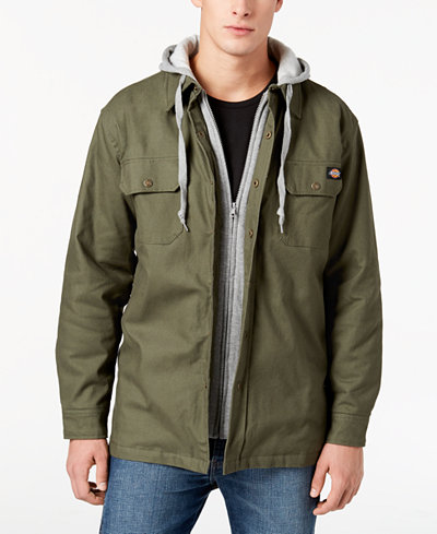 Dickies Men's Quilted Shirt Jacket - Coats & Jackets - Men - Macy's : mens quilted shirt - Adamdwight.com