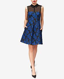 Betsey Johnson Illusion Jacquard Dress