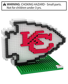 Forever Collectibles Kansas City Chiefs BRXLZ 3D Logo Puzzle