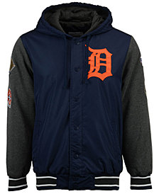 G-III Sports Men's Detroit Tigers Top Brass Commemorative Varsity Jacket