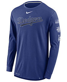 Nike Men's Los Angeles Dodgers Drop Tail Long Sleeve T-Shirt
