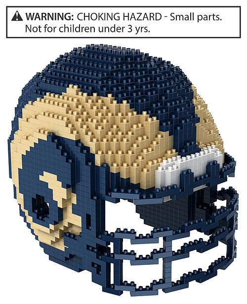 Forever Collectibles Los Angeles Rams BRXLZ 3D Helmet Puzzle