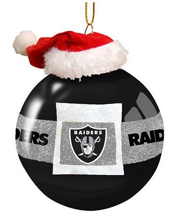Memory Company Oakland Raiders Glass Santa Belt Ornament  Sports