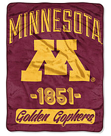 Northwest Company Minnesota Golden Gophers Micro Raschel Varsity Blanket
