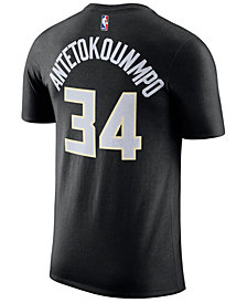 Nike Men's Giannis Antetokounmpo Milwaukee Bucks Name & Number Player T-Shirt