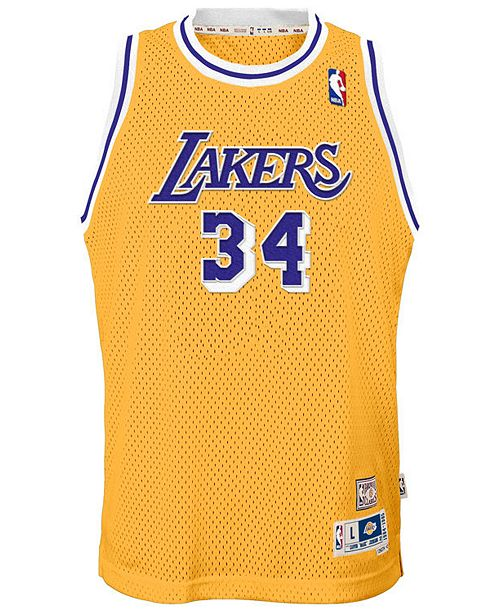 a9eb8c6eb adidas Shaquille O Neal Los Angeles Lakers Retired Player Swingman Jersey