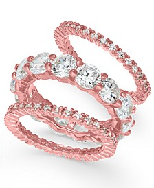 3-Pc. Set Crystal Rings