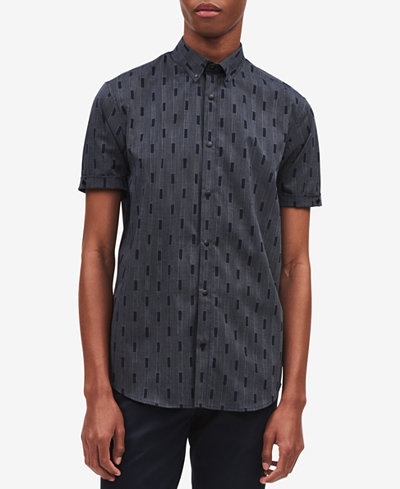 Calvin Klein Men's Square Jacquard Shirt
