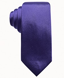 Men's Solid Silk Tie, Created for Macy's