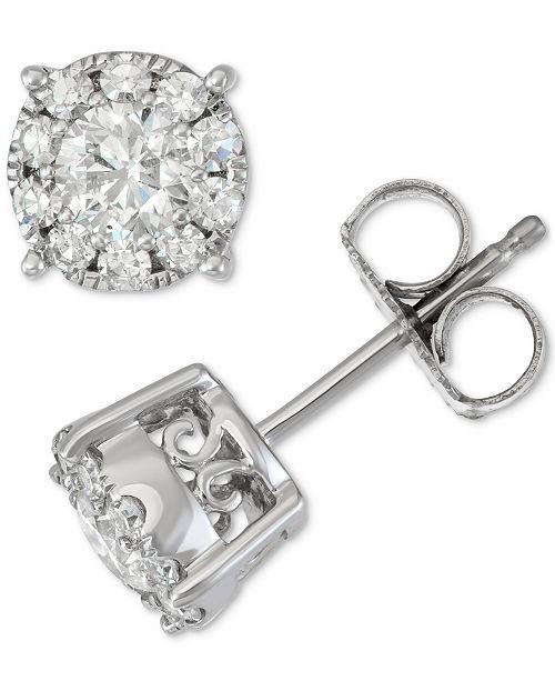 bijoux Halo1 diamant d'oreilles Twen blanc 14kmontres Montres Ct Boucles or EID9WH2Y