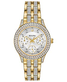Bulova Women's Gold-Tone Stainless Steel Bracelet Watch 33mm