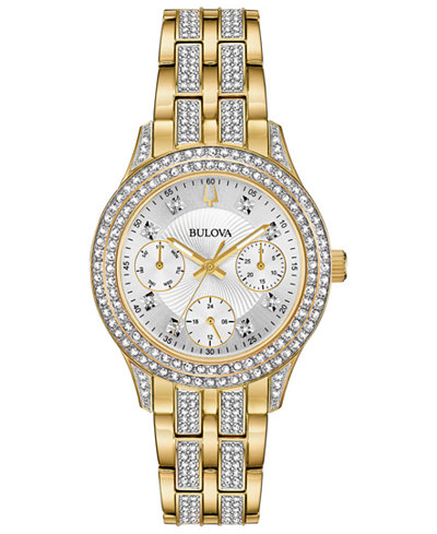 Bulova Women's Gold-Tone Stainless Steel Bracelet Watch 33mm