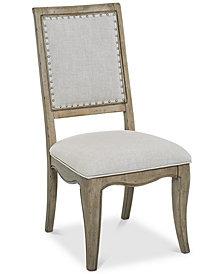 CLOSEOUT! Martha Stewart Bergen Upholstered Side Chair, Created for Macy's