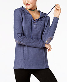 Roxy Juniors' Cotton Pearling Hoodie