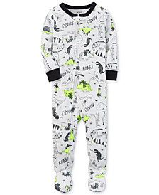 Carter's Dino-Print Footed Cotton Pajamas, Baby Boys