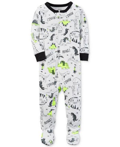 Carter's Dino-Print Footed Cotton Pajamas, Baby Boys