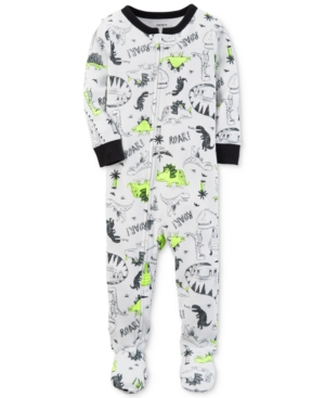 Carters DinoPrint Footed Cotton Pajamas Baby Boys (024 months)