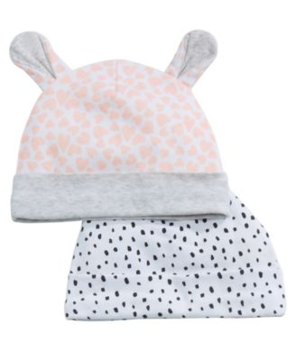 2-Pk. Printed Cotton Hats, Baby Girls, Created for Macy's