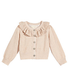 First Impressions Metallic Ruffle-Neck Cardigan, Baby Girls, Created for Macy's