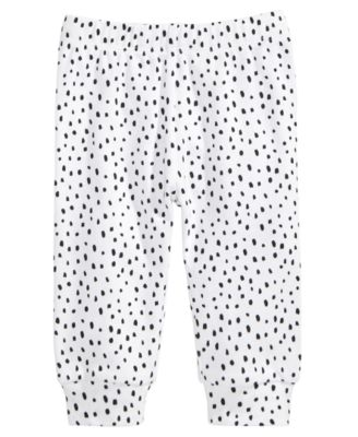 Spotted Cotton Jogger Pants, Baby Girls, Created for Macy's