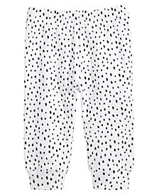 First Impressions Spotted Cotton Jogger Pants, Baby Girls, Created for Macy's