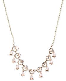 Marchesa Gold-Tone Multi-Stone Slider Necklace