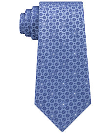 Calvin Klein Men's Medallion Silk Tie