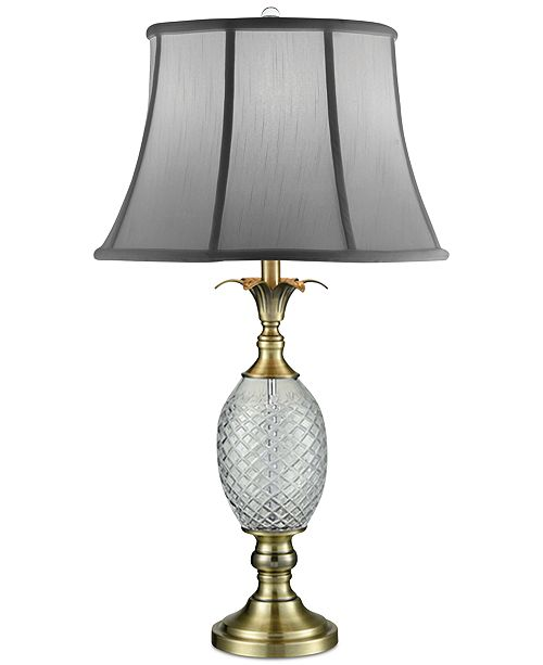 Dale Tiffany Crystal Brass Pineapple Table Lamp Lighting Lamps
