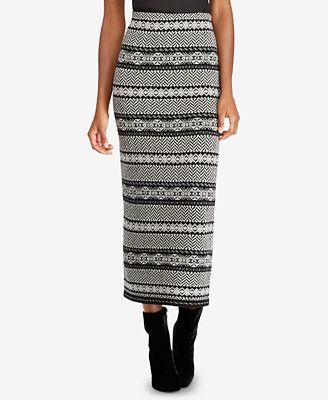 Lauren Ralph Lauren Fair Isle Herringbone Long Skirt - Skirts ...