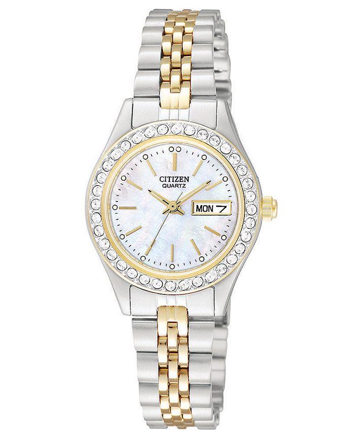 Citizen - Women's Two Tone Stainless Steel Bracelet Watch 26mm EQ0534-50D