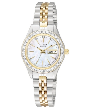 Citizen Women's Two Tone Stainless Steel Bracelet Watch 26mm EQ0534-50D