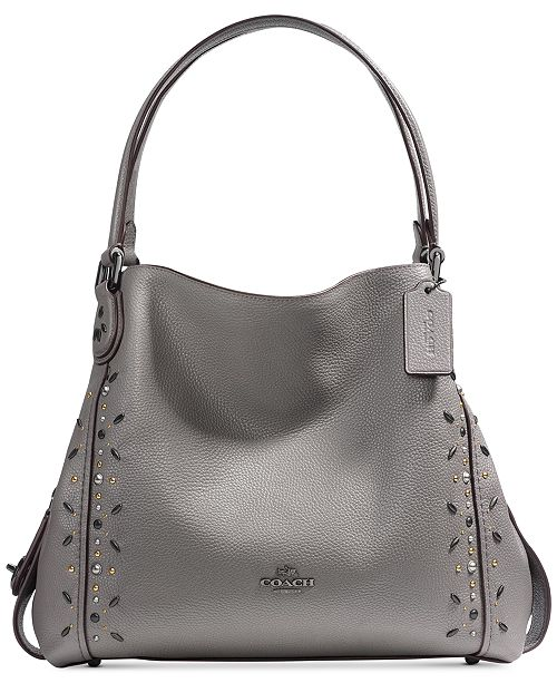 COACH Edie Shoulder Bag 31 with Prairie Rivets - Handbags ... e3c2c1245cf63