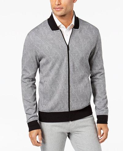 Alfani Men's Reverse Chevron Knit Jacket, Created for Macy's
