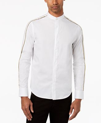 Sean John Men's Banded Collar Shirt, Created for Macy's - Casual ...