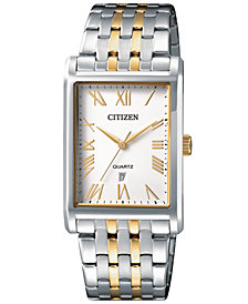 Citizen Men's Quartz Two-Tone Stainless Steel Bracelet Watch 27mm