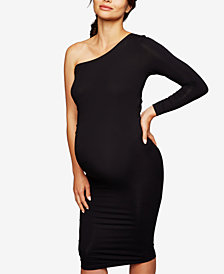 Isabella Oliver Maternity One-Shoulder Sheath Dress