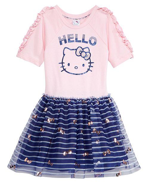 ef44450bc Hello Kitty Printed Mesh Tutu Dress