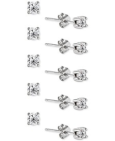 5-Pc. Set Cubic Zirconia Stud Earrings, Created for Macy's